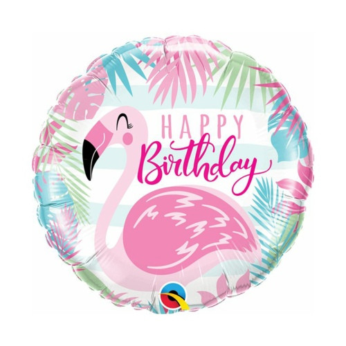 Flamingo B-Day | Heliumballon 46 cm - befüllt