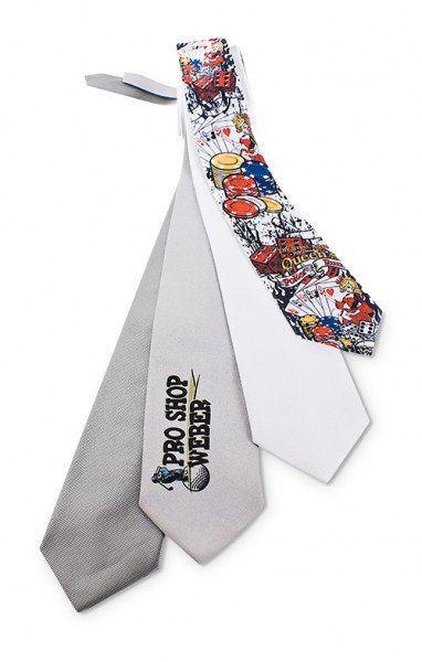 Krawatte genarbt div. Farben