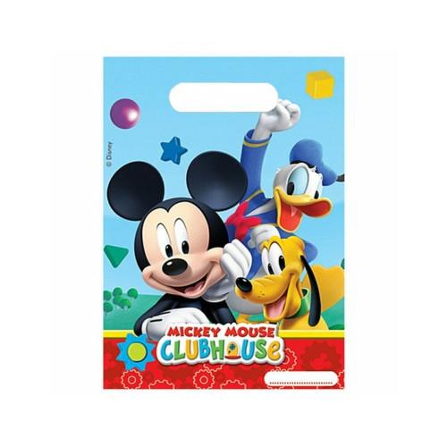 Mickey Mouse | Partytüten 23 x 16.5 cm - 6 Stück