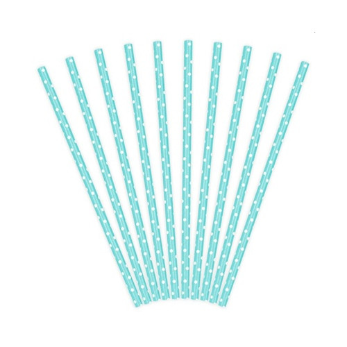 Papierstrohhalme blau-weiss | 10 Stück