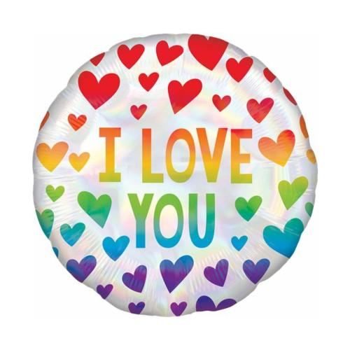 I Love you Rainbow | Heliumballon 46 cm - befüllt
