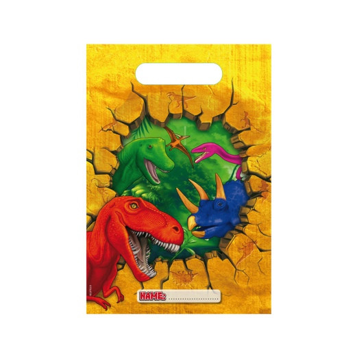 Dinosaurier | Partytüten 17 x 24 cm - 6 Stück