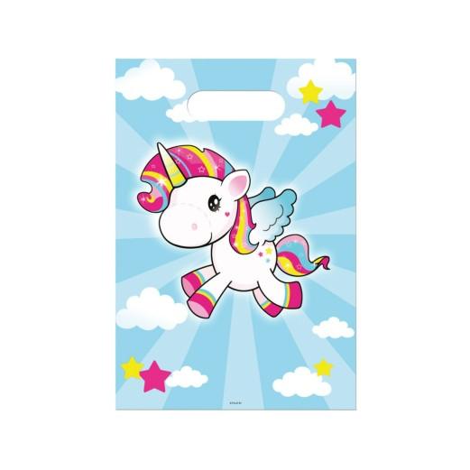 Einhorn Pony | Partytüten 17 x 23 cm - 8 Stück