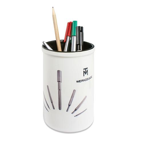 Keramikbecher weiß-schwarz | Fotodruck