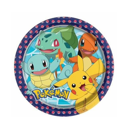 Pokémon | Pappteller 23 cm - 8 Stück
