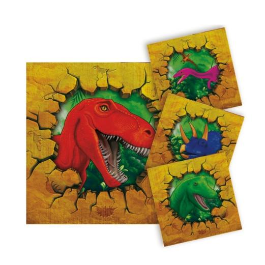 Dinosaurier | Servietten 25 x 25 cm - 16 Stück