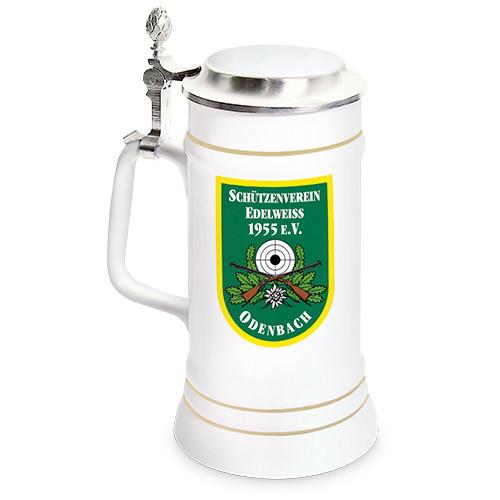 Bierkrug 700 ml mit Zinndeckel