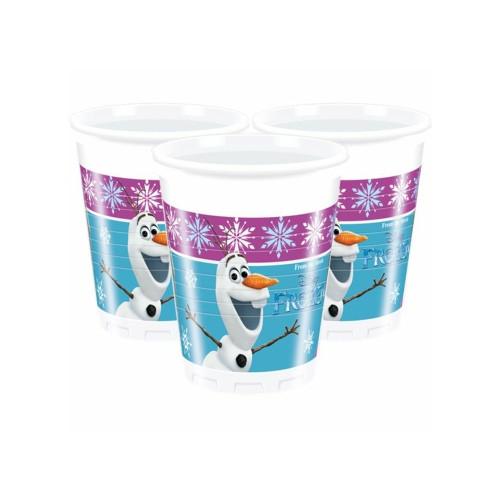 Frozen | Plastikbecher 200 ml. - 8 Stück