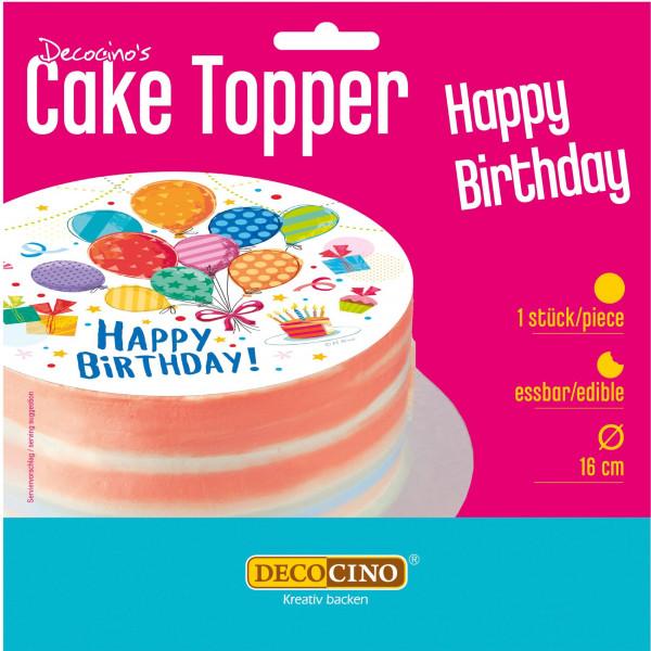 Happy Birthday Tortenaufleger essbar 16cm