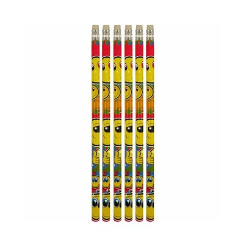 Smiley | Bleistifte - 6 Stück
