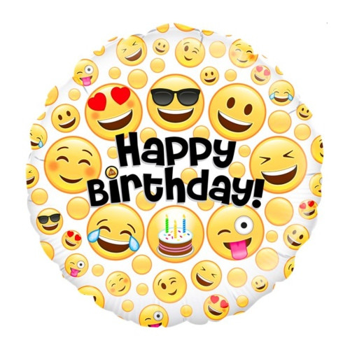Emoji B-Day | Heliumballon 46 cm - befüllt