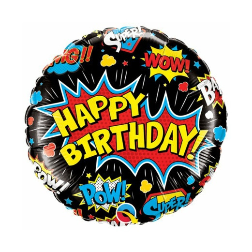 Super Hero B-Day | Heliumballon 46 cm – befüllt
