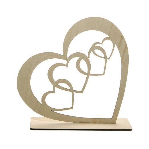 Holzaufsteller | Herzen