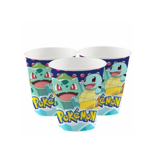Pokémon | Pappbecher 250 ml. - 8 Stück