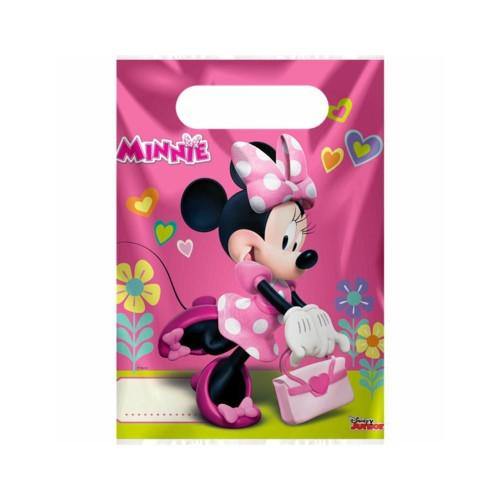 Minnie Mouse | Partytüten 23 x 17 cm - 6 Stück