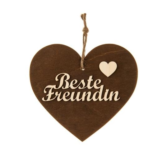 3-D Holzherz «Beste Freundin»