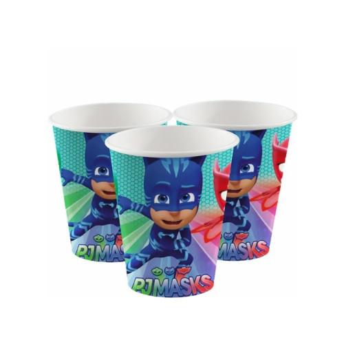 PJ Masks | Pappbecher 180 ml. - 8 Stück