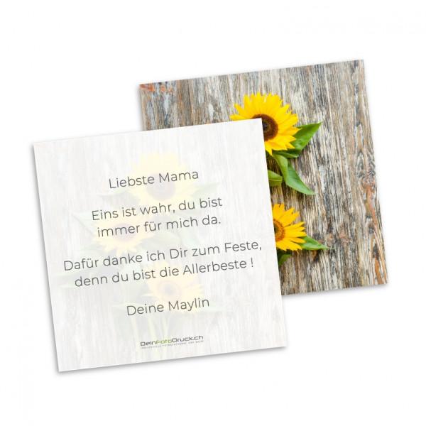 Grusskarte «Sonnenblume» inkl. Grusstext