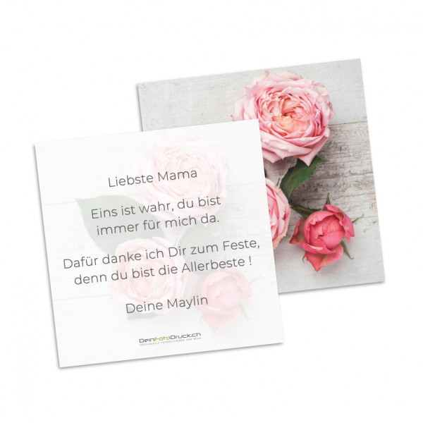Grusskarte «Rose» inkl. Grusstext