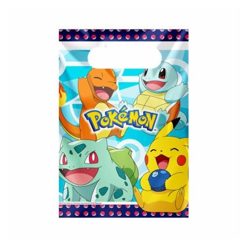 Pokémon | Partytüten 23 x 17 cm - 8 Stück