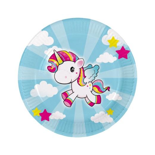 Einhorn Pony | Pappteller 23 cm - 8 Stück