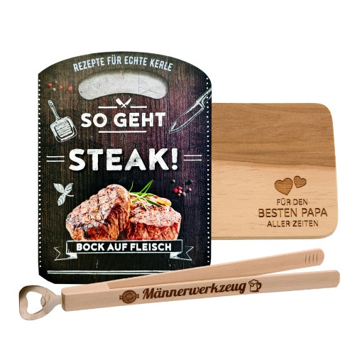 Geschenkset 3-teilig | So geht Steak
