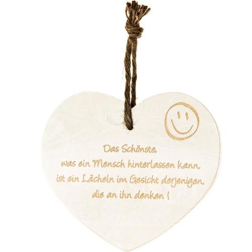 Vintage-Herz «Das schönste was ein Mensch..»
