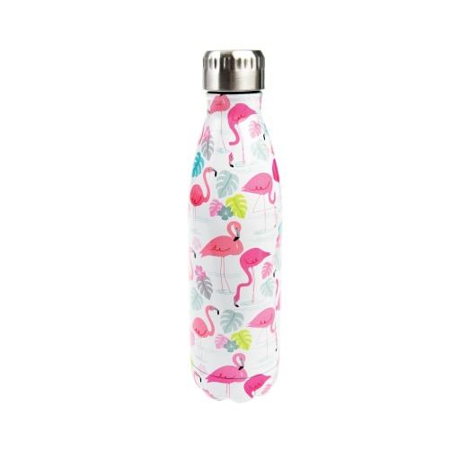 Edelstahl Wasserflasche - Flamingo 500ml