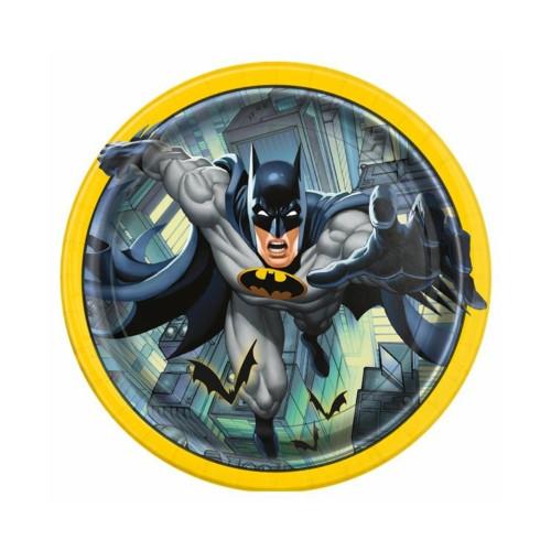 Batman | Pappteller 23 cm - 8 Stück