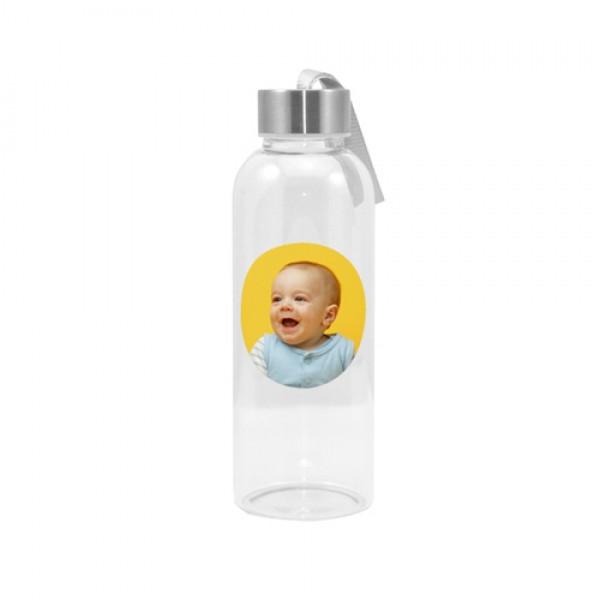 Glasflasche rund 420 ml | Fotodruck