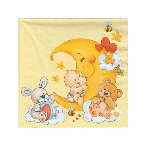 Baby Mond   Servietten 33 x 33 cm - 20 Stück