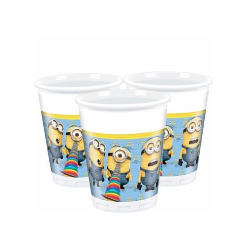 Minions | Plastikbecher 200 ml. - 8 Stück