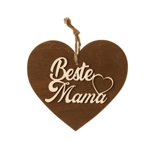 3-D Holzherz «Beste Mama»