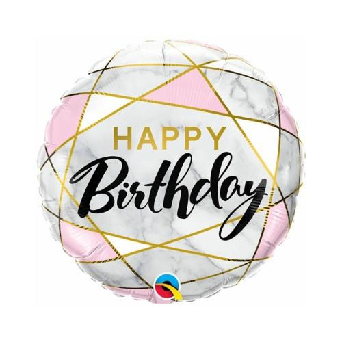 Marmor B-Day | Heliumballon 46 cm - befüllt