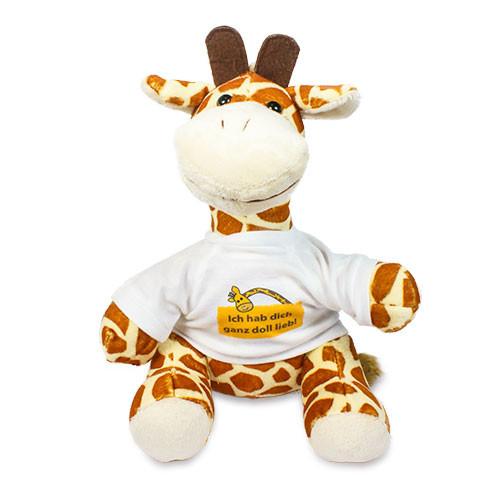 Plüschtier - Giraffe | Fotodruck