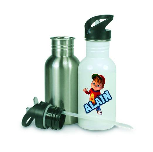Edelstahl Trinkflasche 600 ml | Fotodruck