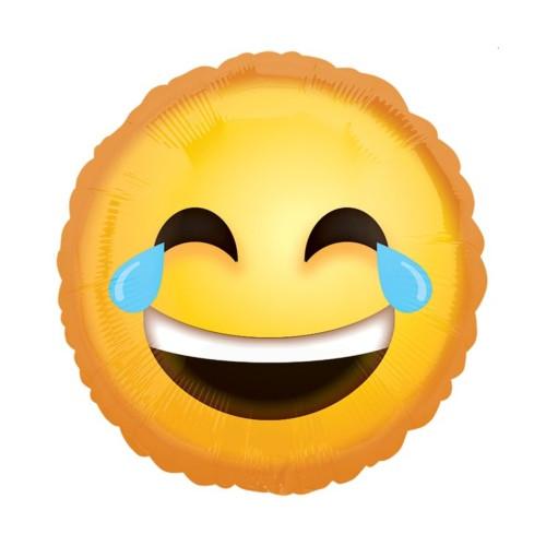 Emoji Lachtränen | Heliumballon 46 cm - befüllt