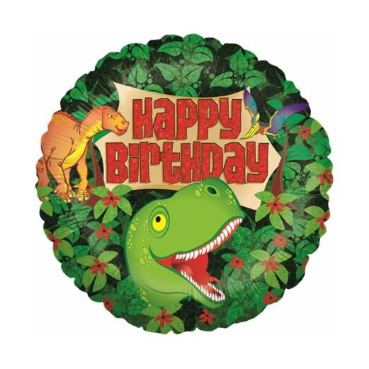 Dinosaurier B-Day   Heliumballon 46 cm - befüllt
