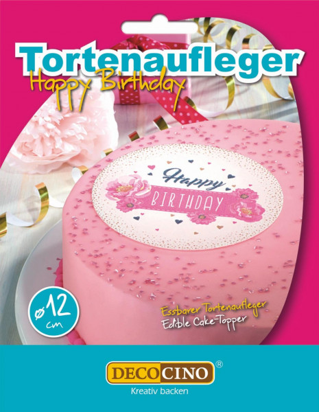 Birthday Girl Tortenaufleger essbar 12cm