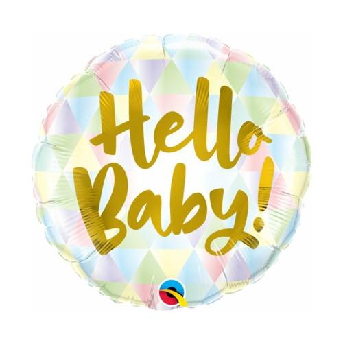 Hello Baby | Heliumballon 46 cm - befüllt