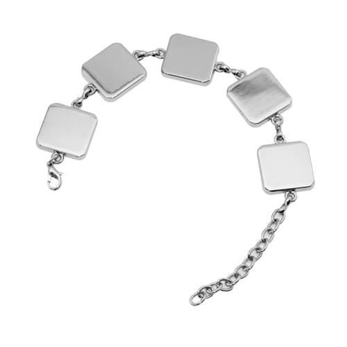 Armband mit 5 Quadrate