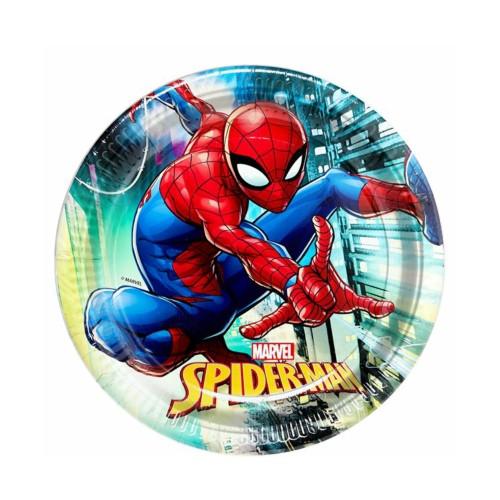 Spiderman | Pappteller 23 cm - 8 Stück