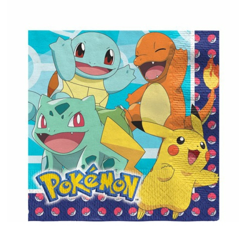 Pokémon | Servietten 33 x 33 cm -16 Stück
