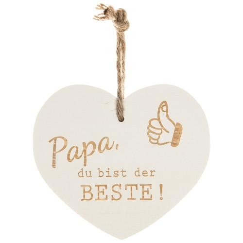 Vintage-Herz «Papa der Beste»