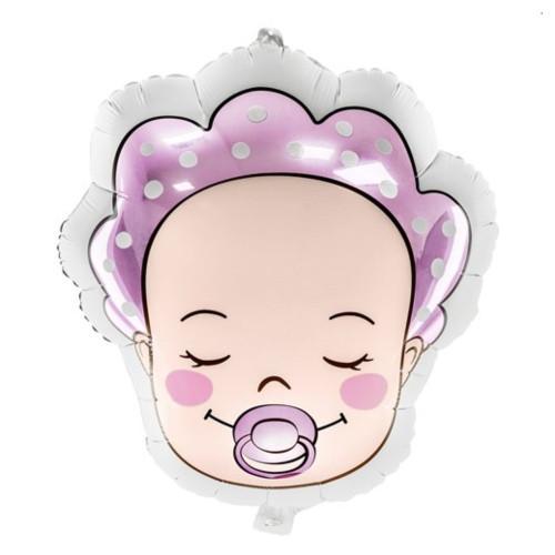 Baby Girl Face   Heliumballon 45 cm - befüllt