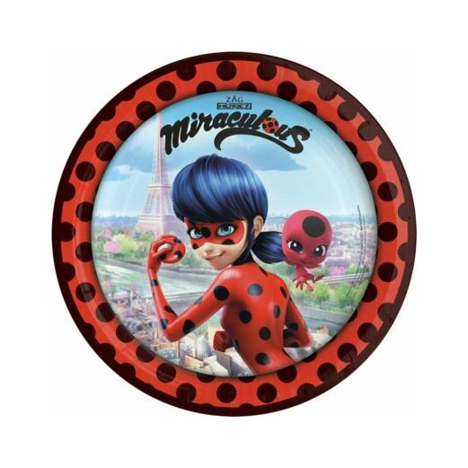 Miraculous Ladybug   Pappteller 23 cm - 8 Stück