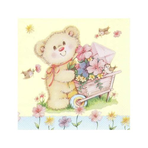 Teddybär | Servietten 33 x 33 cm - 20 Stück
