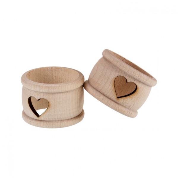 Holz Serviettenring   Motiv Schnitt Herz