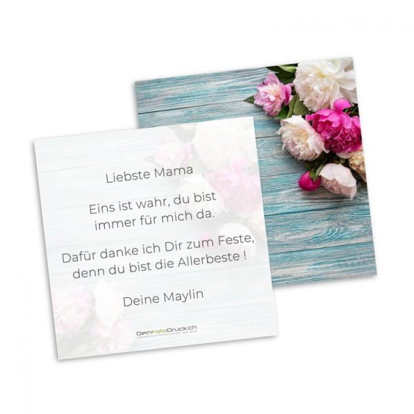 Grusskarte «Blumenstrauß» inkl. Grusstext