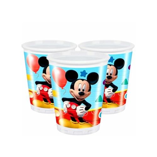 Mickey Mouse | Plastikbecher 200 ml. - 8 Stück